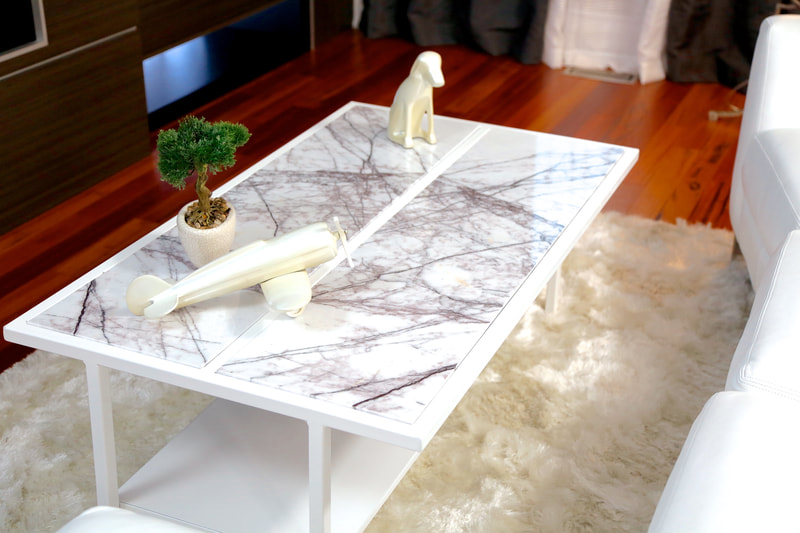 DesignerStone® Panels table top as seen on HGTV