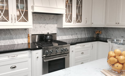 Kitchen Backsplash White Marble (DSP Thin Marble)