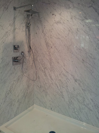 Shower Carrara  (DSP Thin Marble)