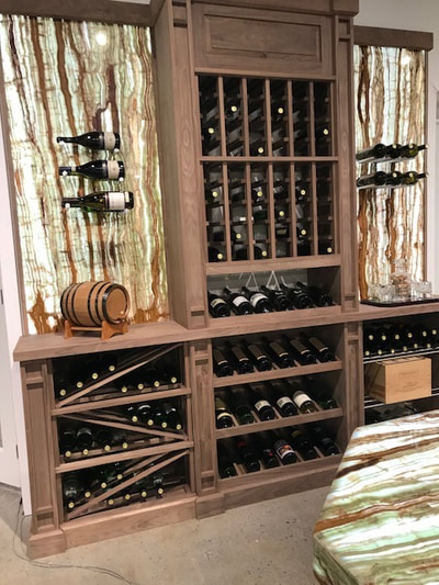 Wine Cellar, bamboo Onyx backlit (DSP Thin Onyx)