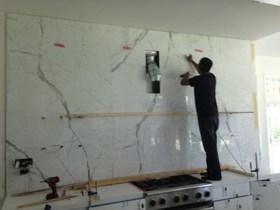 Backsplash Calacatta (DSP Thin Marble)
