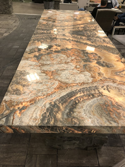 Thin Stone,  Designer Stone Panels, Stone Table