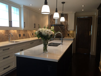 Kitchen Backsplash (DSP Thin Marble)