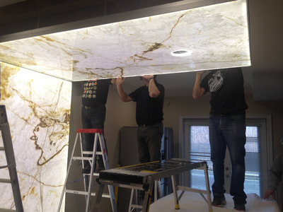 Kitchen White Onyx -(DSP Thin Onyx)